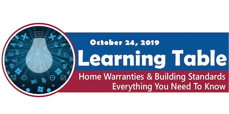 Learning Table: Home Warranties & Building Standards tickets