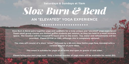 """Slow Burn & Bend: An """"Elevated"""" Yoga Experience"""