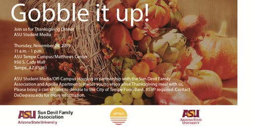 ASU Thanksgiving Dinner