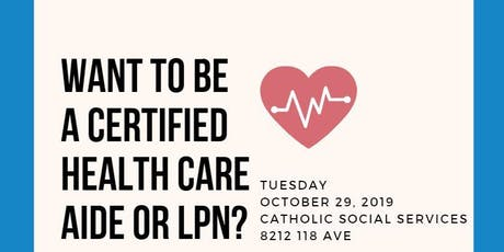 Health Care Aide & Licensed Practical Nurse Programs in Edmonton tickets