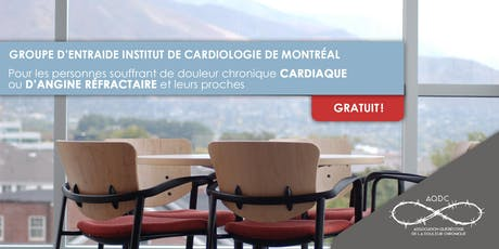 Groupe d'entraide Institut de Cardiologie de Montréal - 24 octobre 2019 billets