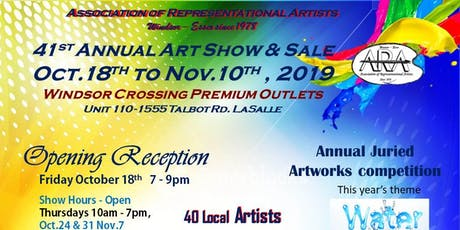 ARA 41st Annual Art Show & Sale Oct.18th to Nov.10th, Windsor Crossings tickets