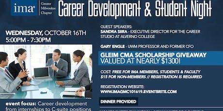 IMA GMC October 2019 - Career Development & Student Night tickets