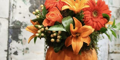 Pumpkin Centerpieces at Trails Edge Brewery with Alice's Table