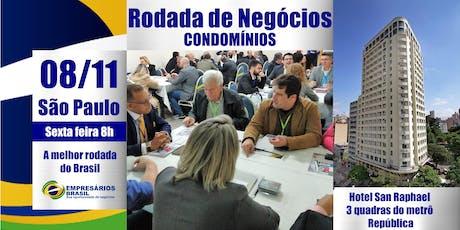 Rodada de negócios - CONDOMÍNIOS - 08-11-2019 ingressos