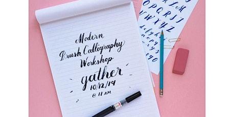 Modern Brush Calligraphy Workshop (03-14-2020 starts at 11:00 AM) tickets