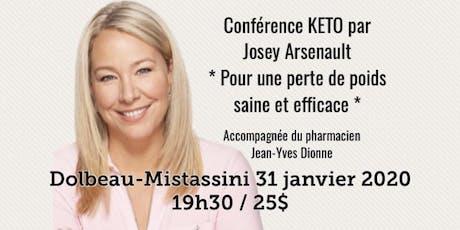 DOLBEAU-MISTASSINI - Conférence KETO - Pour une perte de poids saine et efficace!  billets
