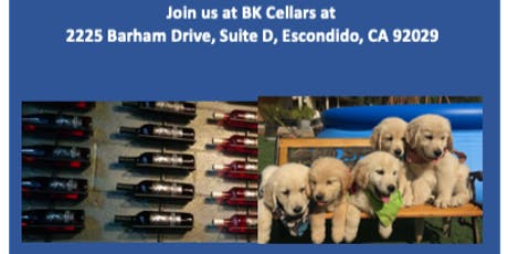 Wine and Puppies at BK Cellars Escondido - Fundraising Event tickets