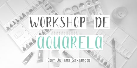 Workshop de aquarela ingressos
