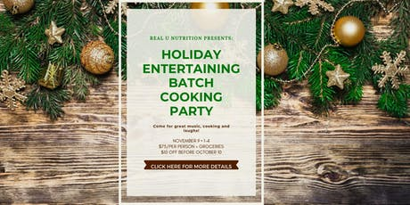 Batch cooking class for holiday entertaining tickets