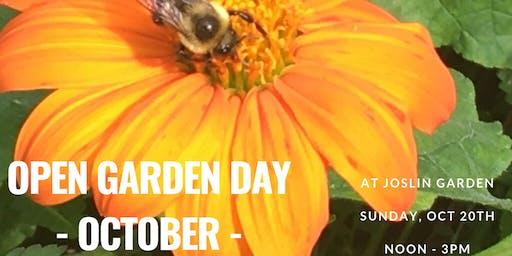 Fall Open Garden Day @ Joslin Garden