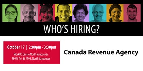 Who's Hiring? Canada Revenue Agency tickets