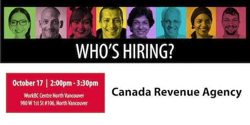 Who's Hiring? Canada Revenue Agency