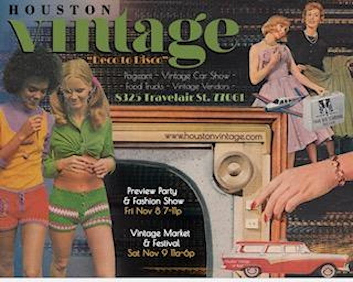 Houston Vintage Preview Party, Market and Festival 2019 image
