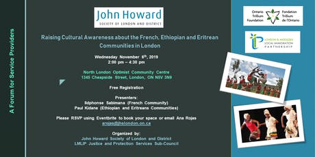 Raising Cultural Awareness about the French, Ethiopian and Eritrean Communities in London  tickets