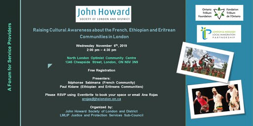 Raising Cultural Awareness about the French, Ethiopian and Eritrean Communities in London