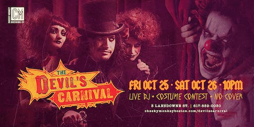 Devil's Carnival Halloween Party at Cheeky Monkey