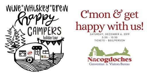 Wine, Whiskey, & Brew Happy Campers Holiday Tour