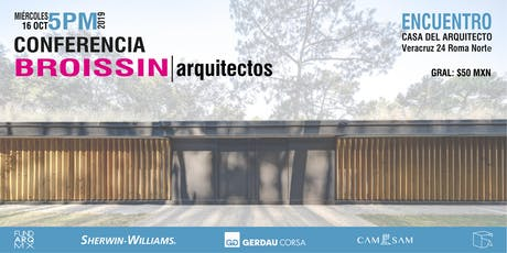 Conferencia: BROISSIN Arquitectos entradas