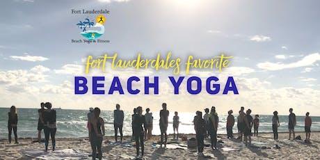 Beach Yoga on Fort Lauderdale Beach | $10 tickets