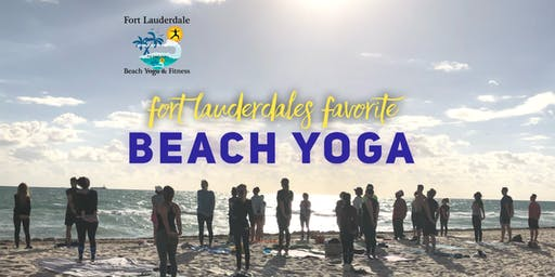Beach Yoga on Fort Lauderdale Beach | $10