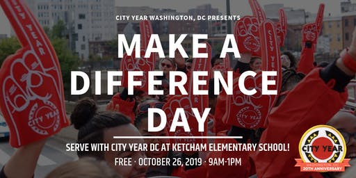 Make A Difference Day 2019 -- Serve w/ City Year DC!