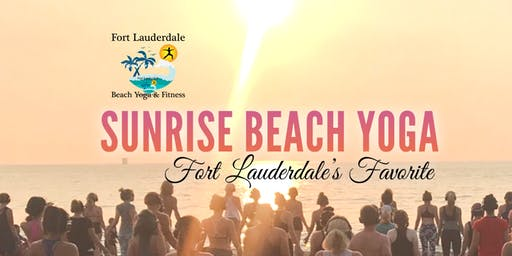 Sunrise Beach Yoga on Fort Lauderdale Beach | $10