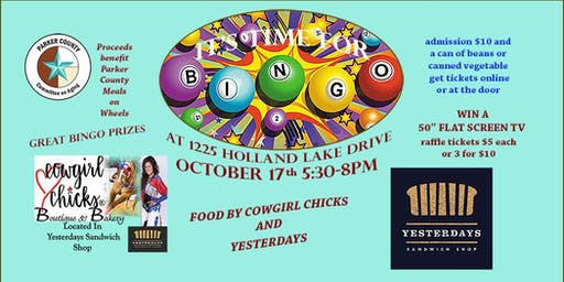 Cowgirl Chicks & Yesterdays & Bingo!  Proceeds benefit Meals on Wheels