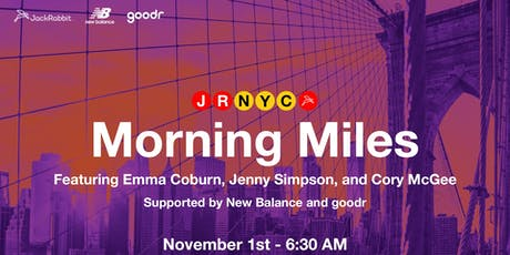 Morning Miles with Emma Coburn, Jenny Simpson & Cory McGee tickets