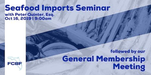 GMM + Seminar : Seafood Imports