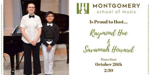 Piano Duet Raymond Hou and Savannah Howard