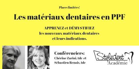 Lundi 21 octobre - Les Matériaux Dentaires En PPF billets