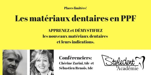 Lundi 21 octobre - Les Matériaux Dentaires En PPF