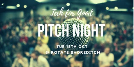 Tech for Good Pitch Night London tickets