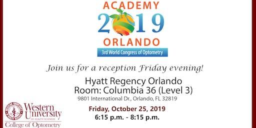 2019 AAO Academy Orlando WesternU College of Optometry Reception