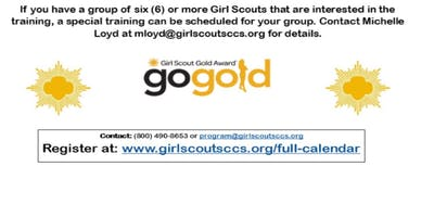 Gold Award Candidate Training - Bakersfield