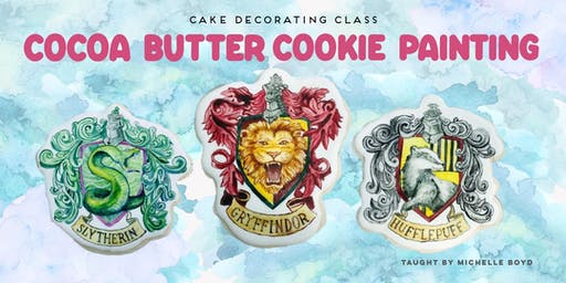Cocoa Butter Painting - Hogwarts House Crest Cookies