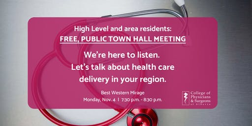 High Level health care public town hall meeting - FREE