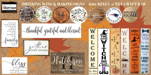 *PRIVATE EVENT - INVITE ONLY* DRINKING WINE AND MAKING SIGNS with KELLY!