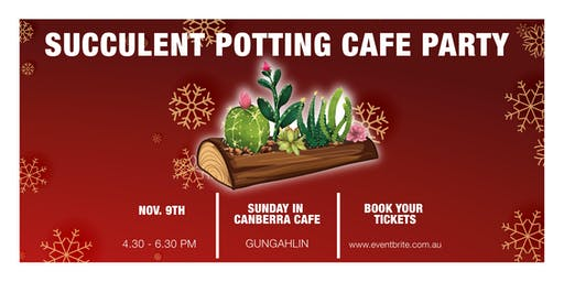 Succulent Potting Cafe Party - Christmas Special