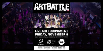 Art Battle Champions with Q-Mixers at Studio Allston!