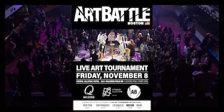 Art Battle Champions with Q-Mixers at Studio Allston! tickets