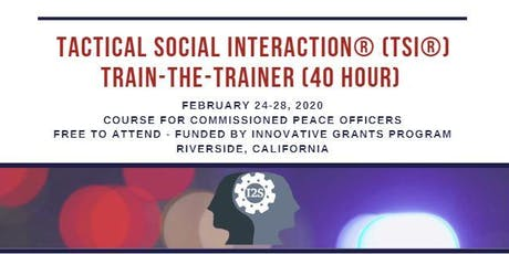 Tactical Social Interaction® Training-the-Trainer (Course 3 of 6) tickets