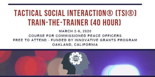 Tactical Social Interaction® Training-the-Trainer (Course 4 of 6)