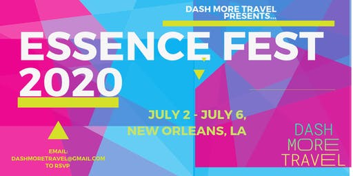 ESSENCE FESTIVAL of Culture 2020 | MOXY HOTEL Packages by DASH MORE TRAVEL