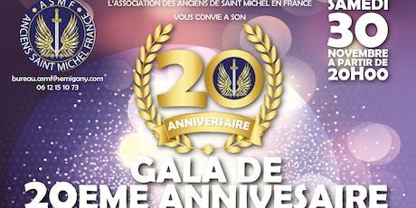 Gala 20è Anniversaire ASM France billets