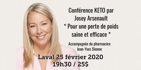 LAVAL - Conférence KETO - Pour une perte de poids saine et efficace!  billets