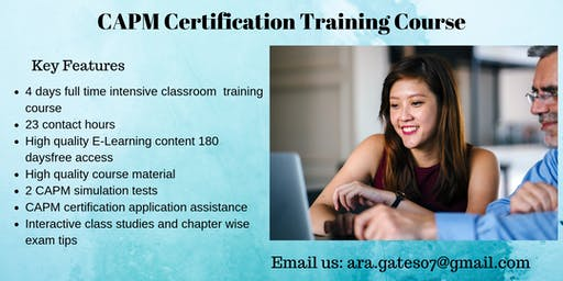 CAPM Certification Course in Escanaba, MI
