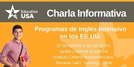Charla de Programas Inglés Intensivo Octubre 2019 entradas