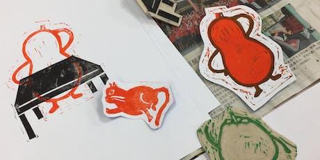 Linocut Printmaking & MYO Paper tickets
